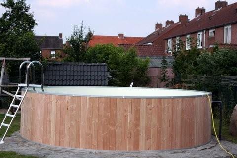 Holzrundpool Kinderpool Tiefe 90cm Folie 0,60mm sand