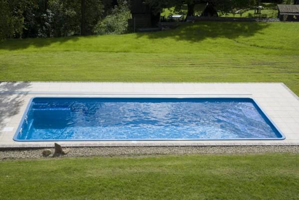 Diamant 820 x 350 x 150cm Fiberglaspool GFK Vinylester Pool
