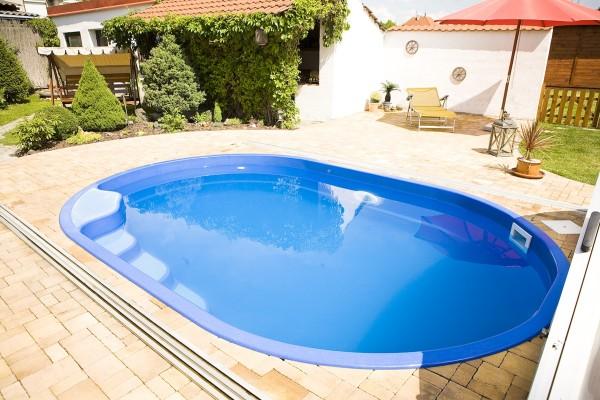 Kiddie 450 x 300 x 120cm Fiberglaspool GFK Vinylester Pool
