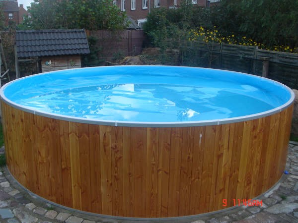 Holzrundpool Kinderpool Tiefe 90cm Folie 0,60mm blau