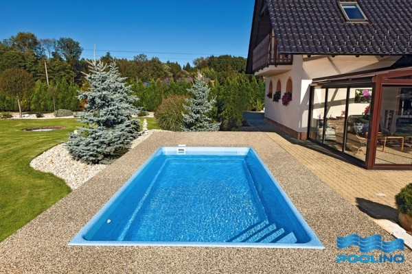 Nizza 618 x 314 x 140cm Ceramic Pool Ceramisith