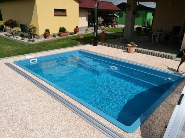 Smart 460 x 300 x 120cm Fiberglaspool GFK Vinylester Pool